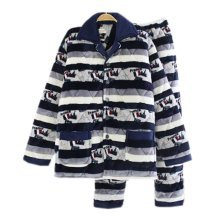 Men Pajamas Warm Thick Cotton Modern Set Sleepwear/Nightwear Clothes for Home, #No.8