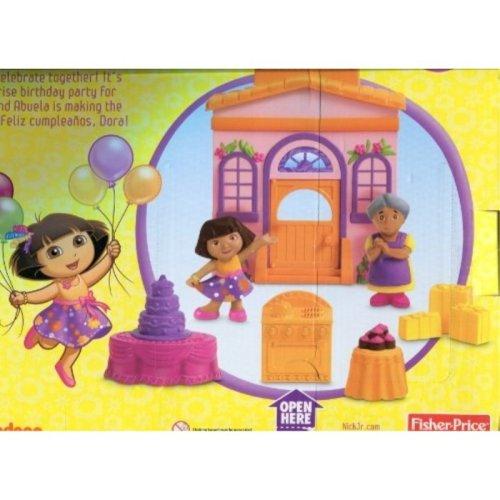 Fisher Price Dora the Explorer Sorpresa Party Playset Dora's Big Birthday Adventure