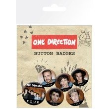 One Direction Four Badge Pack