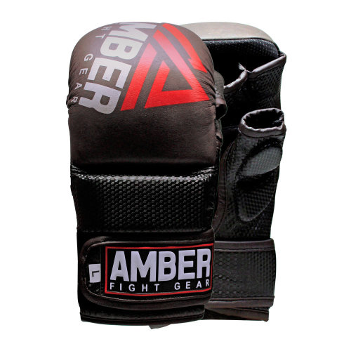 AFG Contender Sparring MMA Glove REAL Leather Hybrid Grappling Martial Arts Sparring Punching Bag Cage Fighting