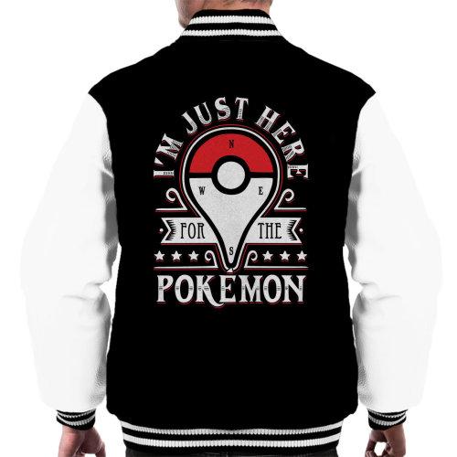 Catching Some Monsters Pokemon Go Men's Varsity Jacket