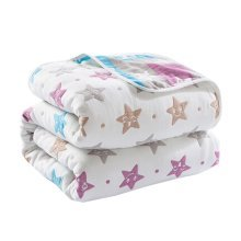 "Soft Cotton Gauze Baby Towel Blanket Toddler Blankets Covered Blanket 35.43""x 39.37"" (Stars)"