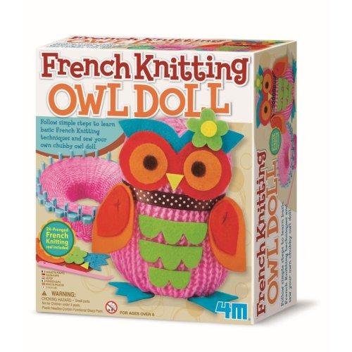 4M French Knitting Owl Doll Making Kit