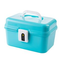 Home/Traveling Medicine Box Portable Medicine Cabinet Storage Box Blue
