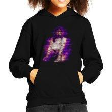Michael Jackson Bad World Tour 1988 Purple Flare Kid's Hooded Sweatshirt