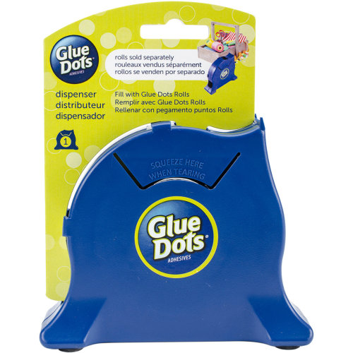 Glue Dot Desktop Roll Dispenser-Navy