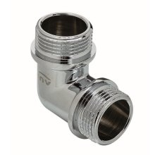 """Chrome Plated Brass Male Elbow Pipe Fitting Connection Mxm 3/8"""" 1/2"""" 3/4"""""""