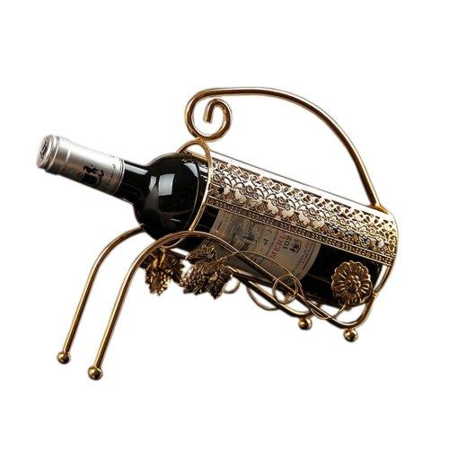 [Gladiator] Gilded Elegant Wine Rack Storage Organizer Display Holder