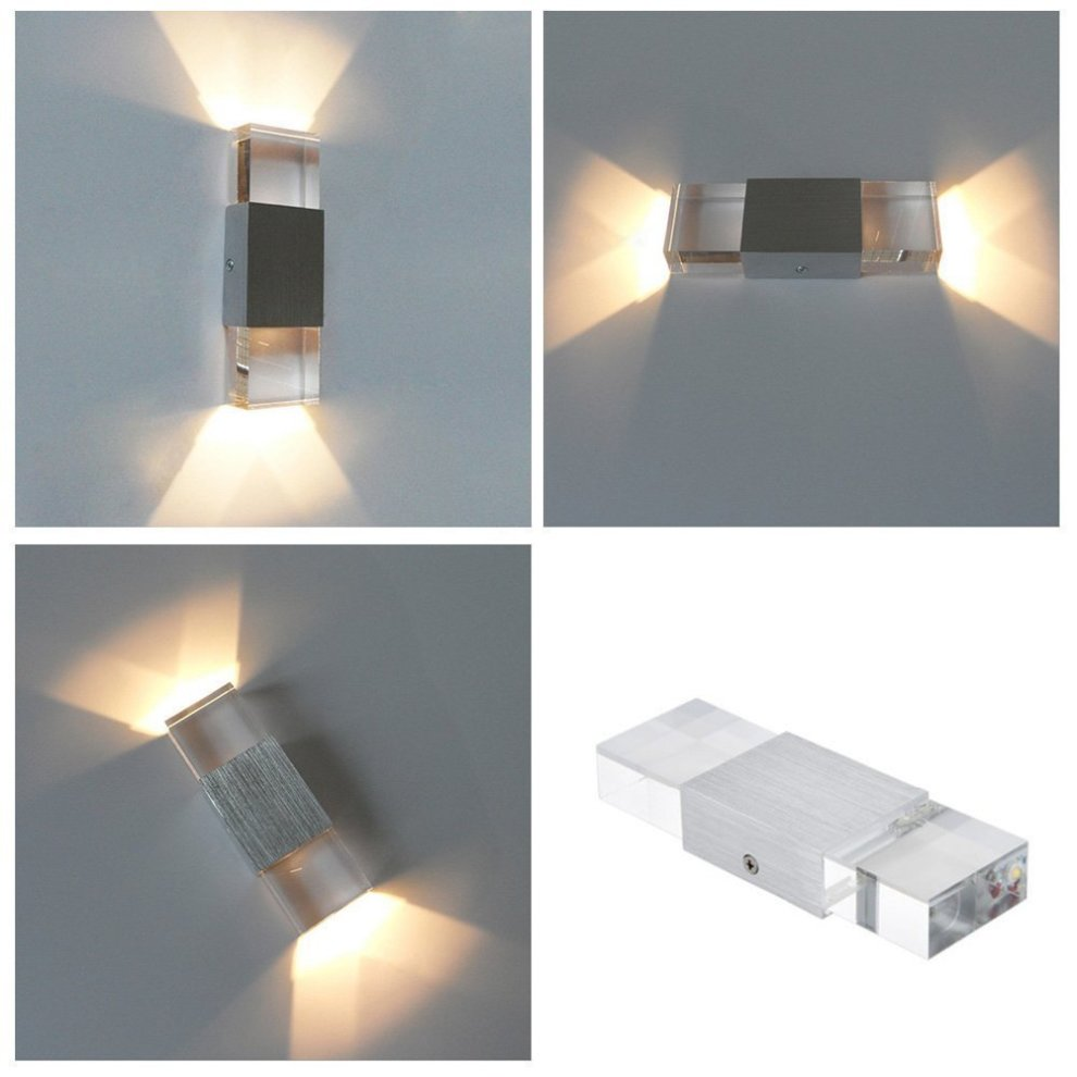 e678dab2a0d1 ... Unimall LED Beside Wall Sconce Lamp Up and Down 6W Indoor Wall Lights  for Bedrooms Living ...