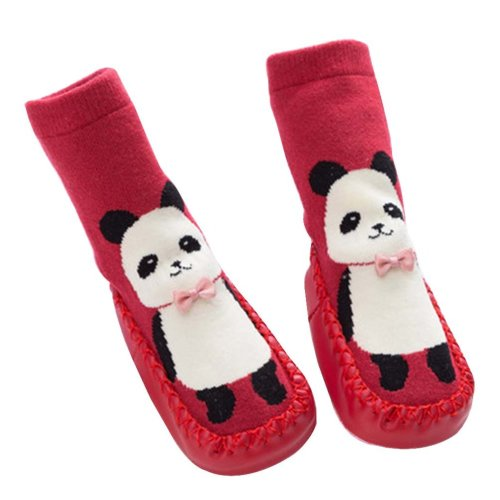 Baby Winter Socks Warm Socks Toddler Shoes Non-slip [Panda-1]