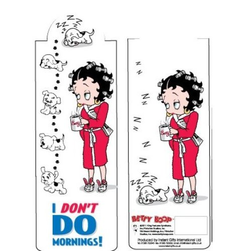 Betty Boop I Don't Do Mornings Bookmark
