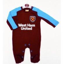 West Ham United Baby Sleepsuit - 2017/18 Season (12-18 Months) - 2018 Babies -  west ham united 2018 babies pram sleep suit baby grow play bodysuit