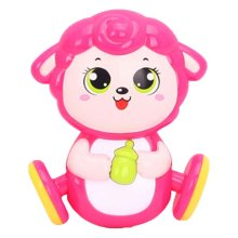 2 Pcs Novel Cartoon Sheep Baby Plastic Infant Toys Rattles Hand Bell