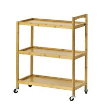 SoBuy® FKW34-B-N, 3 Shelves Serving Trolley on Wheels Kitchen Trolley