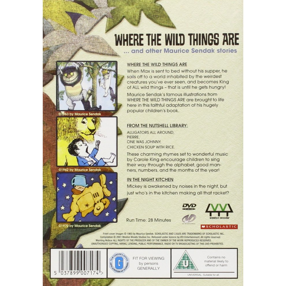 Where The Wild Things Are    and other Maurice Sendak stories [DVD]