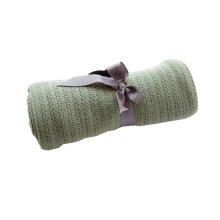 Newborn Baby Blankets Cotton Car Blanket 75 X 100 CM - Green