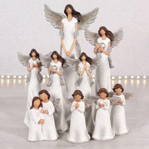 Glitter Angel Ornaments