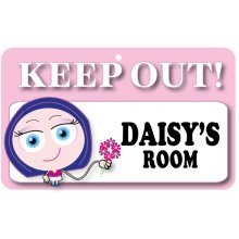 Keep Out Door Sign - Daisy's Room