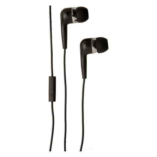 Groov-e Listen and Talk Headphone with Microphone Mobile Buds - Black (GVEB4BK)