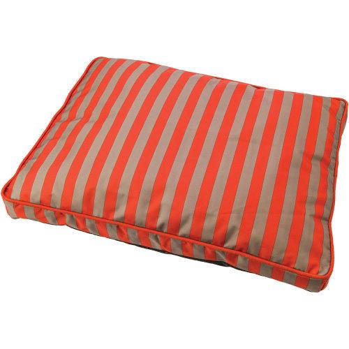 """Sleep Zone 40"""" Cabana Pillow Dog Bed-Orange"""