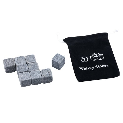 Trixes 9pc Granite Ice Cubes | Whiskey Chilling Stones