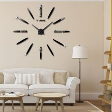 3D Acrylic Wall Clock DIY