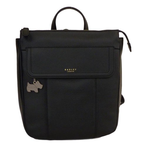 Radley Rosedene Black Leather Backpack