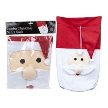 Jumbo Christmas Santa Sack - Father Gift Bag Xmas Large Presents Toy Stocking -  father christmas santa sack gift bag xmas large presents toy jumbo