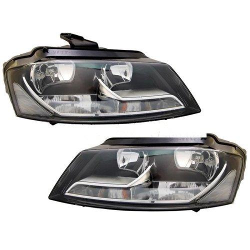 Audi A3 Mk3 2008-2012 Headlights Headlamps 1 Pair O/s & N/s