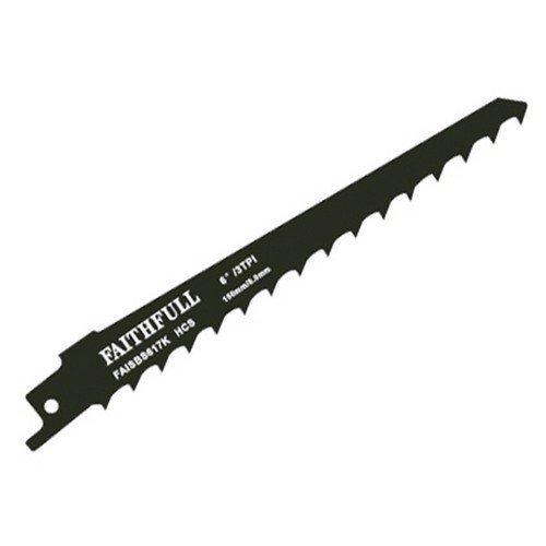 Faithfull FAISBS617K Sabre Saw Blade Wood S617K (Pack of 5)