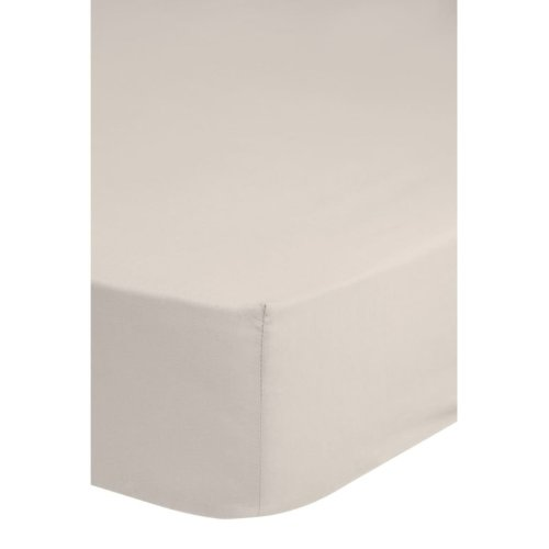 Emotion Non-iron Fitted Sheet 90x200 cm Sand 0220.06.42