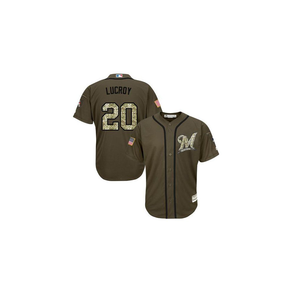 f138f94f6 ... Milwaukee Brewers Cool Base MLB Custom Salute To Service Jersey - 1 ...