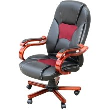 Homcom High Back Office Seat | Black & Red Desk Chair