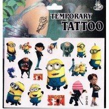 Minions Tattoo Sheet - 3 Items
