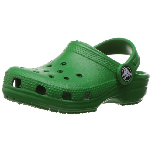 Crocs Unisex Kids' Classic Clog Kids Clogs , Green (Kelly Green) , 13 UK Child (C13 US)