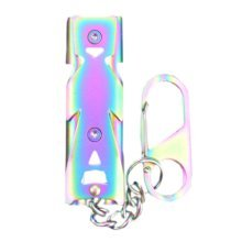 Colorful Emergency Hiking Camping Survival Aluminum Whistle Sports Whistle
