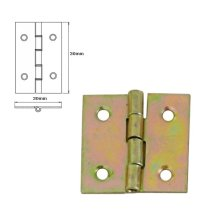 1 Pcs Folding Closet Cabinet Door Butt Hinge Brass Plated 30x30mm
