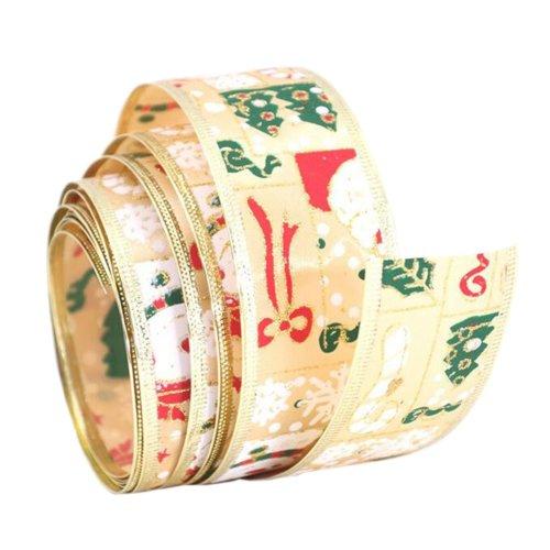 Colorful Christmas Tree Decor Ribbon for Christmas Gift Wrapping
