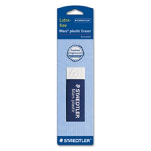 Staedtler STD52650BK4 Plastic Eraser, Latex-free, 2.5 in. x .88 in. x .5 in., 4-PK, WE