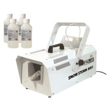 FX Lab 1200W Snow Storm Maxi Artificial Snow Effects Machine & 4x 250ml Bottles of Venu Concentrated Snow Fluid