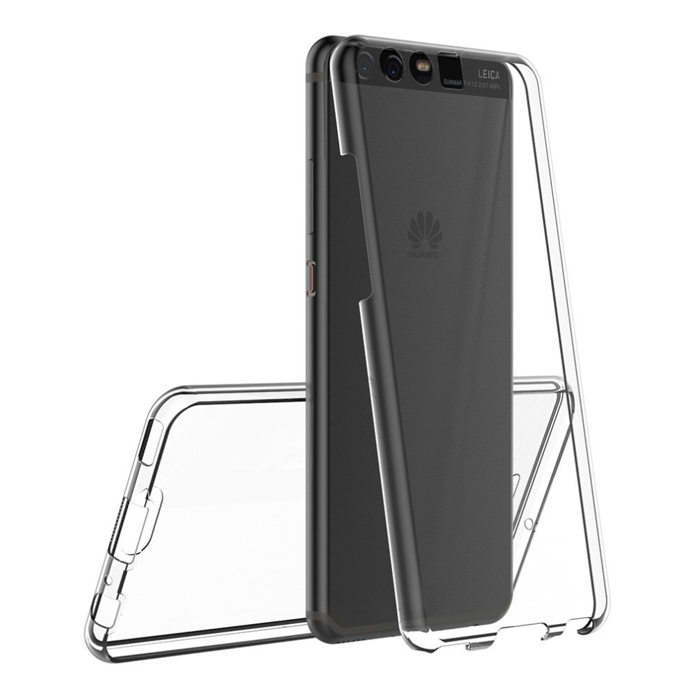 buy online 2c2dd 11bed AICEK Huawei P10 Case, Full Body 360 Degree Transparent Silicone Cover for  Huawei P10 Bumper Covers Clear Case