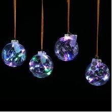 10cm LED Christmas Transparent Ball