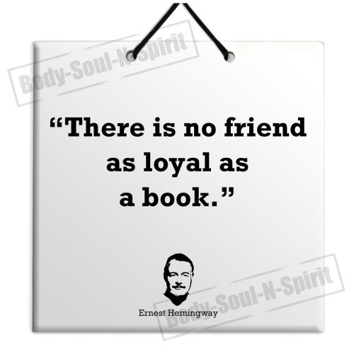 Ernest Hemingway - Buy Quote Ceramic Wall Hanging Art Sign Plaque TILE Home