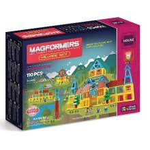 MAGFORMERS MAGNETIC CONSTRUCTION VILLAGE SET 110 PIECES