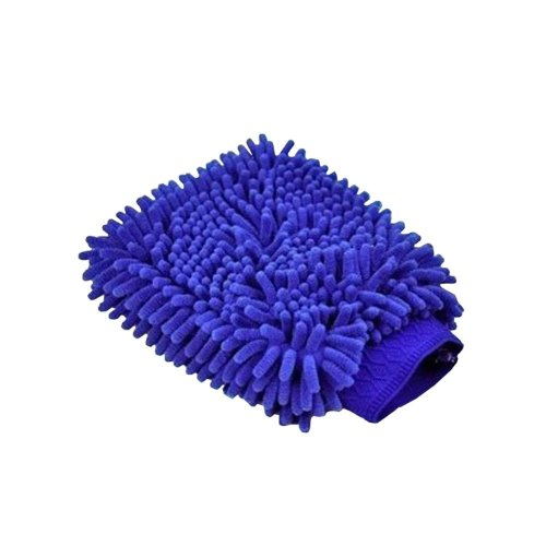 Double-sided Chenille Super Soft Goves Household Cleaning Glove BLUE