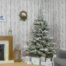 Kaemingk Everlands - Prelit Snowy Calgary Fir Artificial Christmas Tree