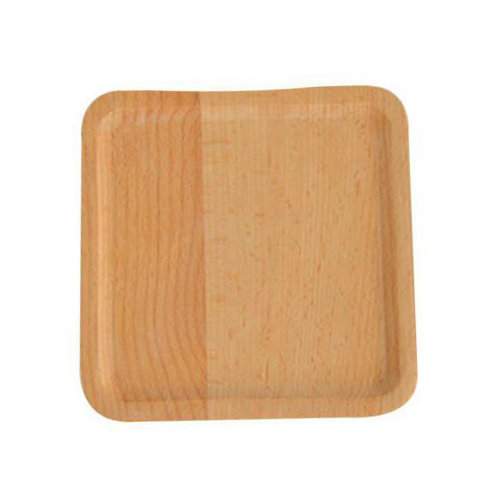 Wooden Dinnerware Fruit/ Meat/ Dessert Plate Square Wooden Dish  15 X 15 CM