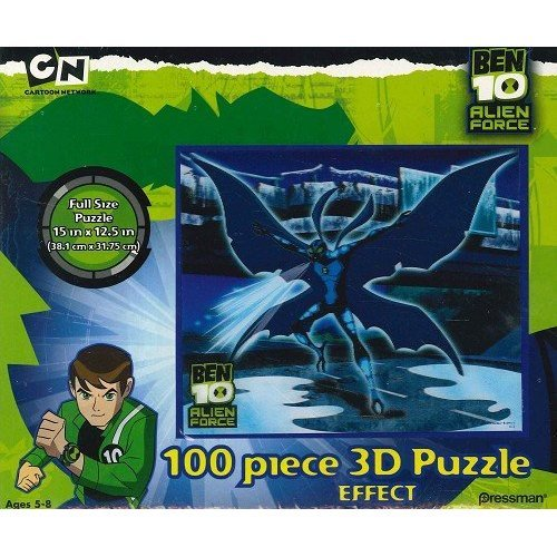 Ben 10 Alien Force 100 Piece 3d Puzzle - Big Chill/ Blue