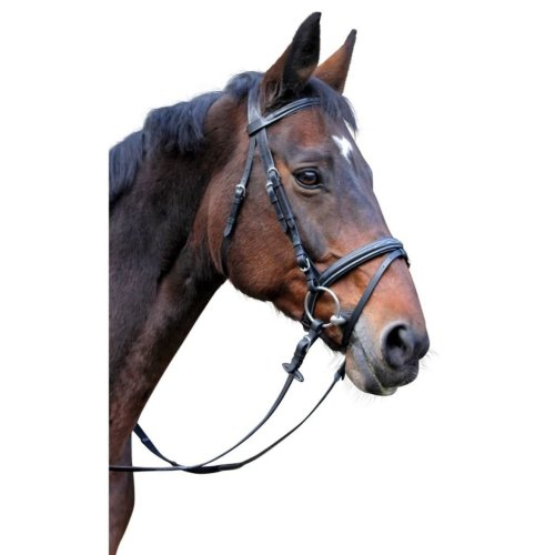 Kerbl Snaffle Bridle Classic Leather Black Full 326139
