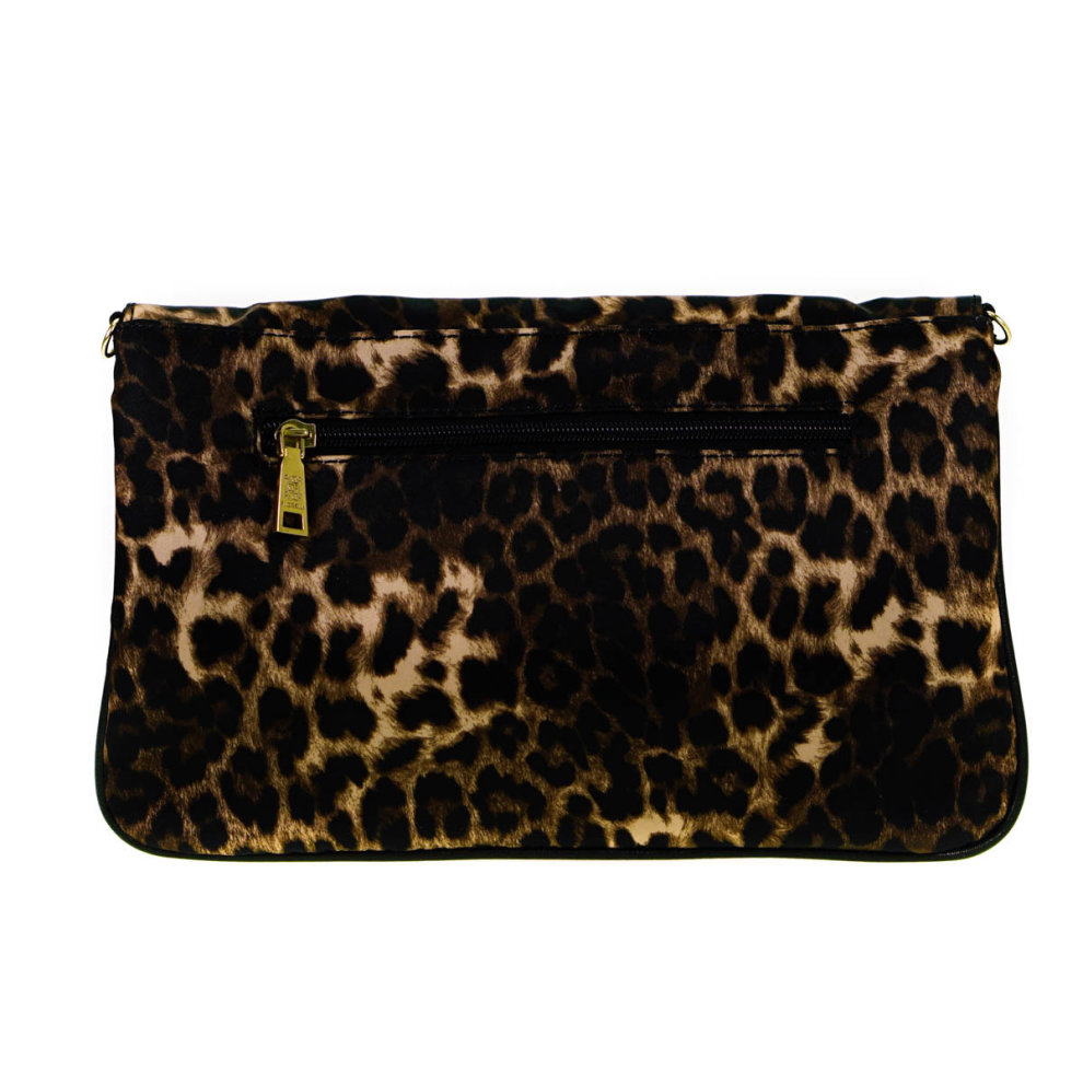 online here enjoy free shipping full range of specifications Fiorelli Leopard Print Fold Over Clutch Cross Body Bag